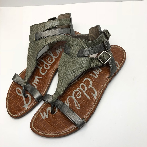 6e1f98722dba Sam Edelman Shoes - Sam Edelman Sandals Grey Alligator Snake